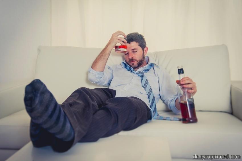 Typisch aussehender Alkoholiker