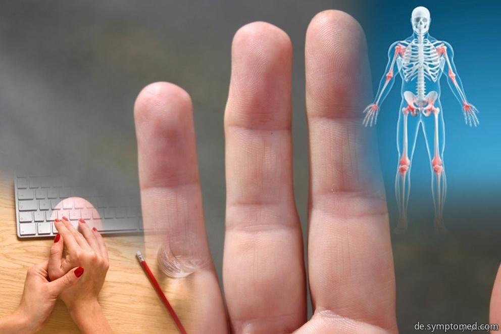 Symptome der Arthropathie