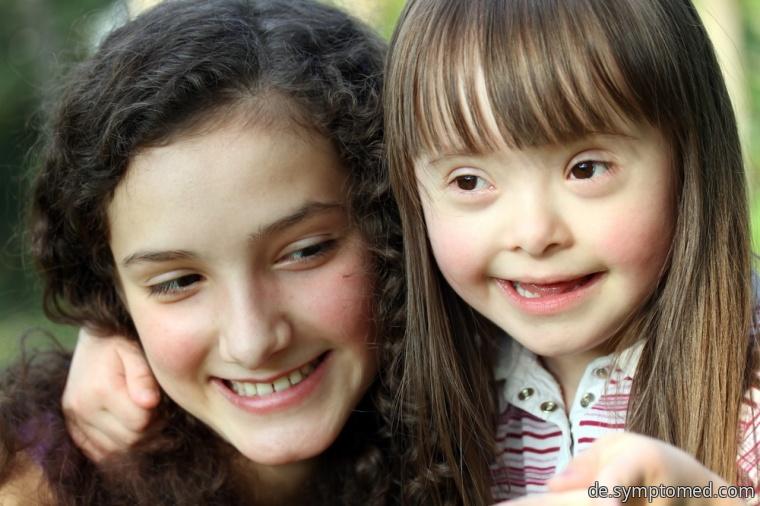 Mädchen mit Down - Syndrom