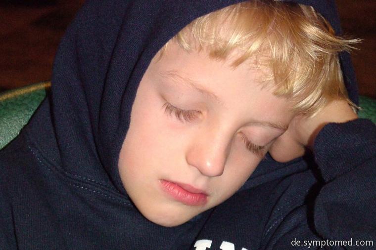 Ein an Mumps leidender Junge