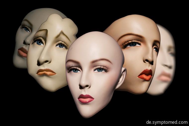Gesichtsausdrücke bei Schizophrenie