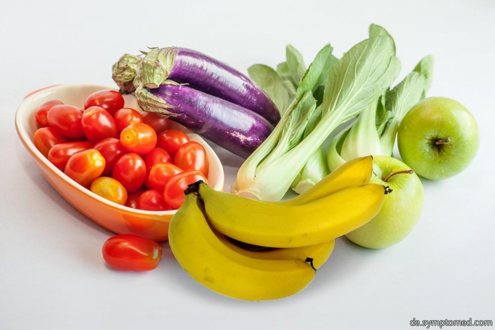 Obst und Gemüse - die Nahrungsmittel mit dem höchsten Kaliumgehalt