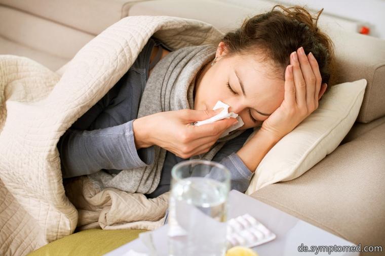Müdigkeit bei der Erkältung