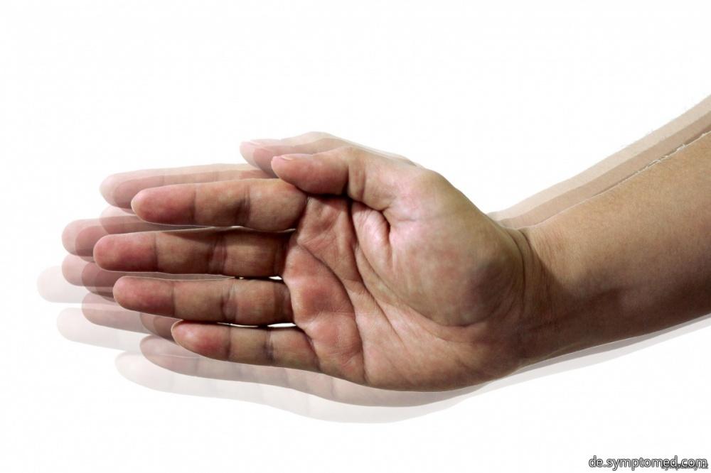 Zittern der Hände