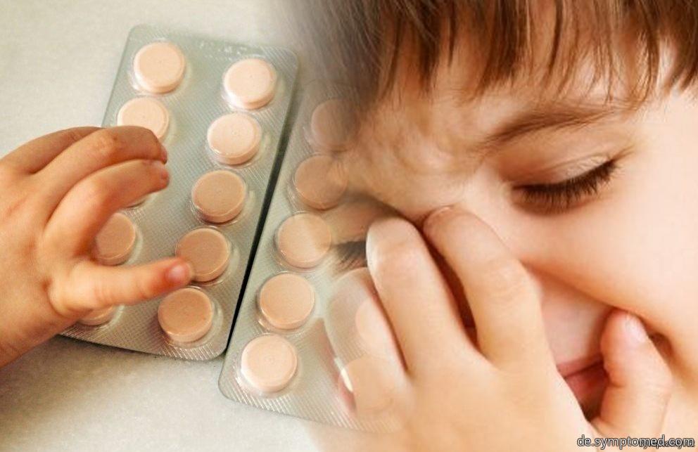 Vergiftung mit Medikamenten bei einem Kind